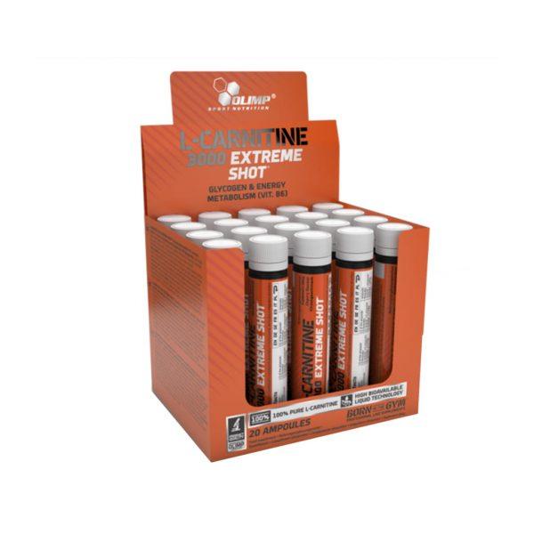 l carnitine 3000 extreme shot amputka 25ml orange 20szt